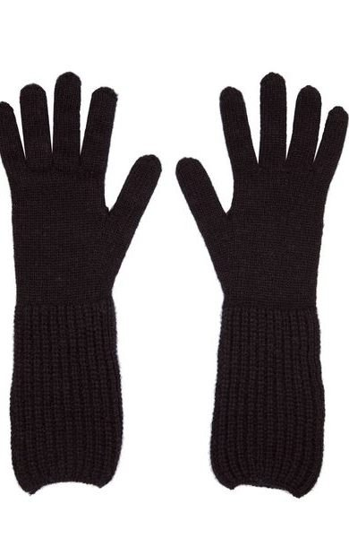 Rib Cuff Gloves Black