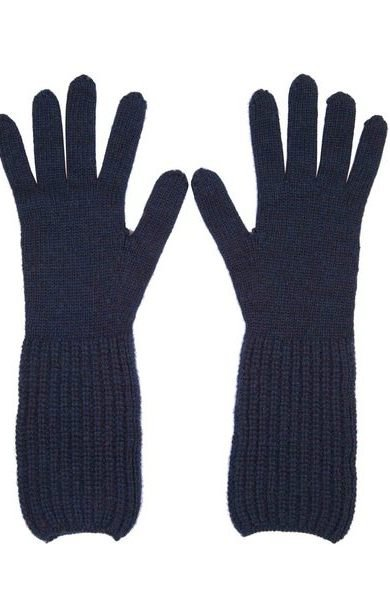 Rib Cuff Gloves Nero Navy