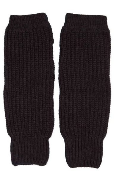 Rib Wristwarmers Black