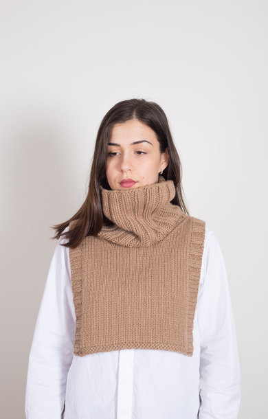 Roll Neck Bib Cammello