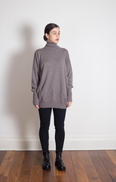 Roll Neck Dress Elk