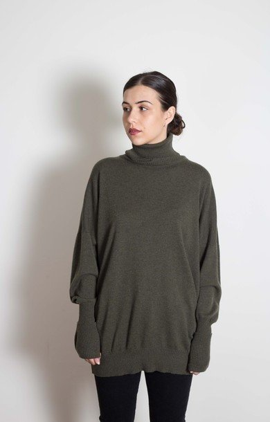 Roll Neck Dress Loden