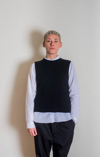 Tabard Vest with Pocket Black