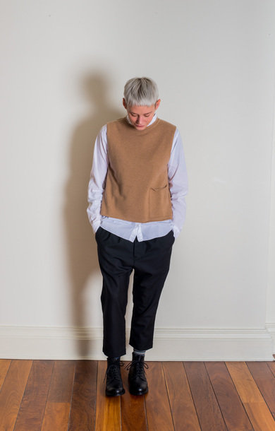 Tabard Vest with Pocket Llama