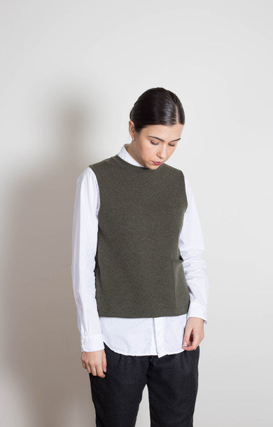 Tabard Vest with Pocket Loden