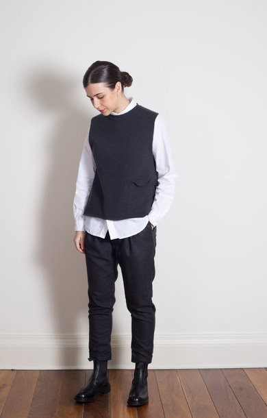 Tabard Vest with Pocket Peat