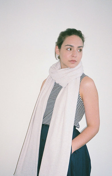 Wide Plain Scarf T-Dawn
