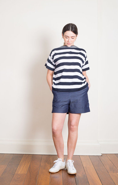 Alexander Shorts Chambray Washed