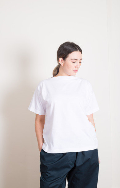 Blue Skin Boat T-Shirt White