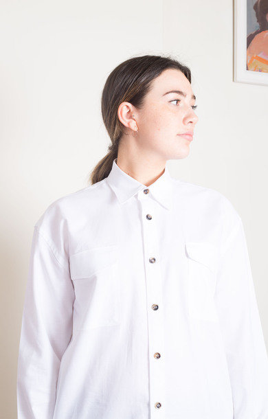 Danglar Over Shirt- Oxford White