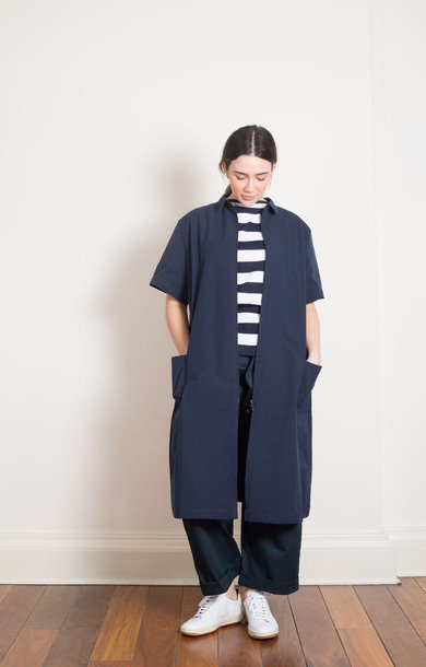 Red Hare Long Shirt- Navy