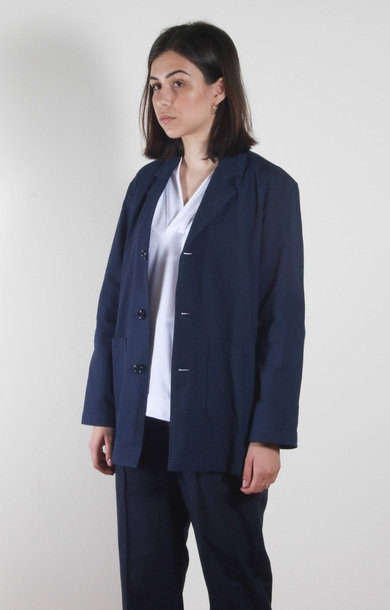 Wide Jacket Furia Seersucker Blue