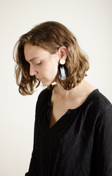 Aalst Earrings Black