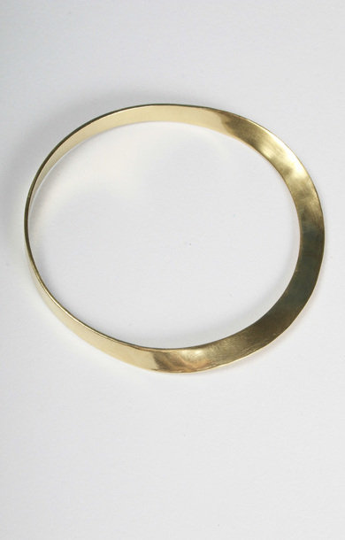 Bracelet Brass Flat Wave