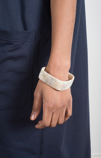 Bracelet Horn Square Low Beige