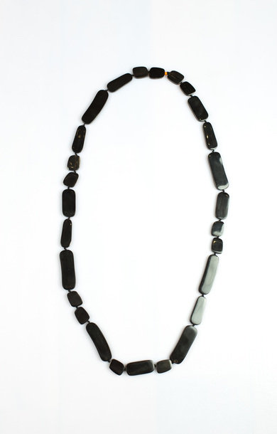 Necklace Horn Different Forms Long Black