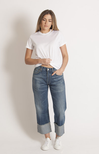 Anberlin Parker Cuffed Crop Selvedge PV