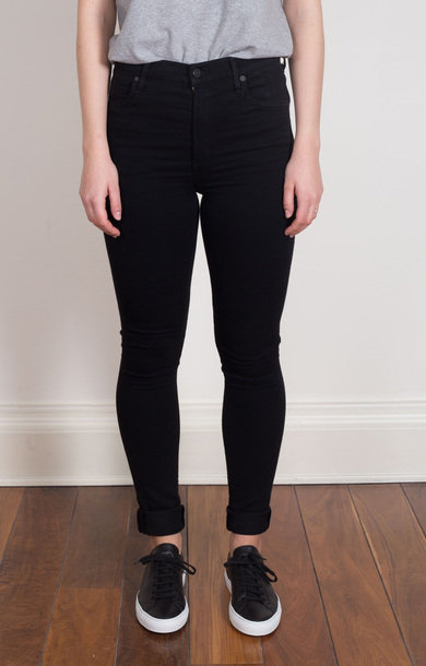 Carlie High Rise Skinny in All Black
