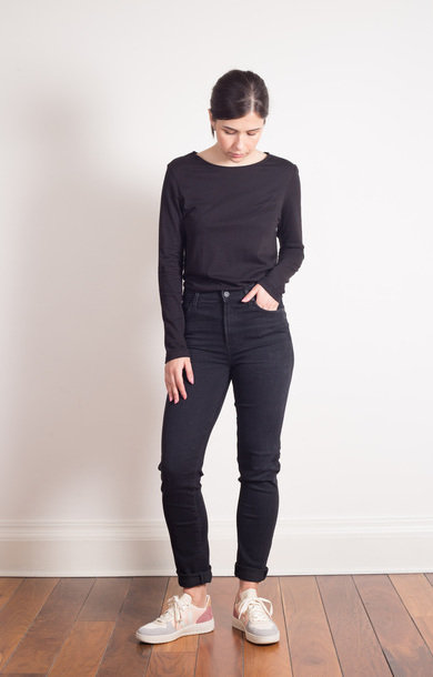 Harlow High Rise Slim Straight Washed