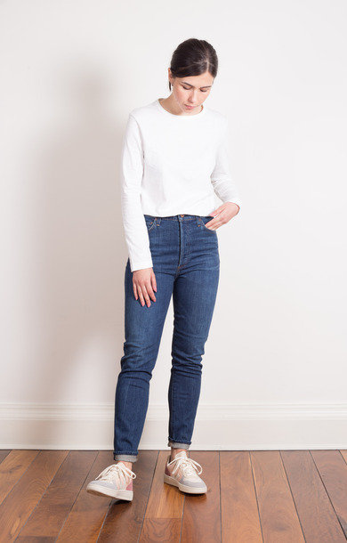Olivia High Rise Slim Ankle Indigo