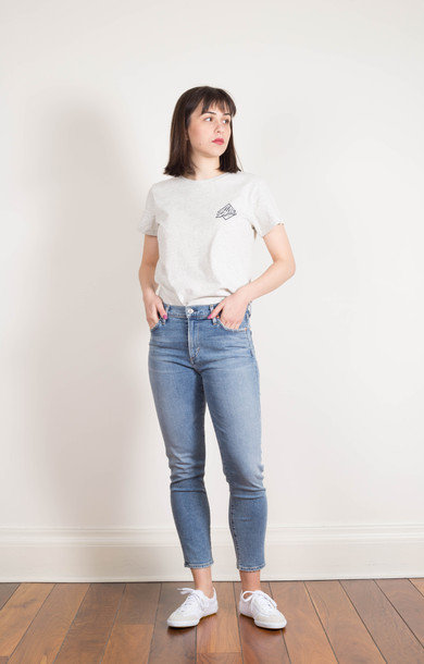 Rocket Crop High Rise Skinny Serenity