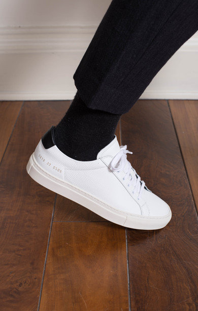 Achilles Retro Low Pebbled White
