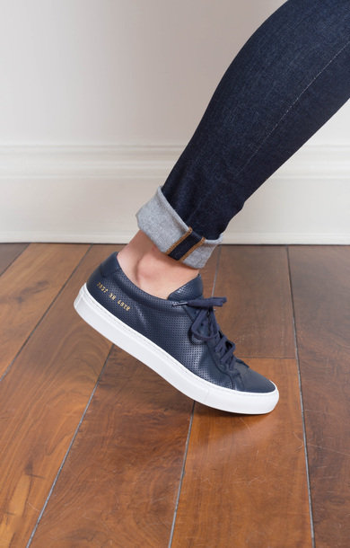 Original Achilles Perforated Low Navy