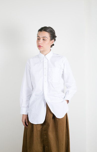 19 Century BD Shirt White 2ply Broadcloth