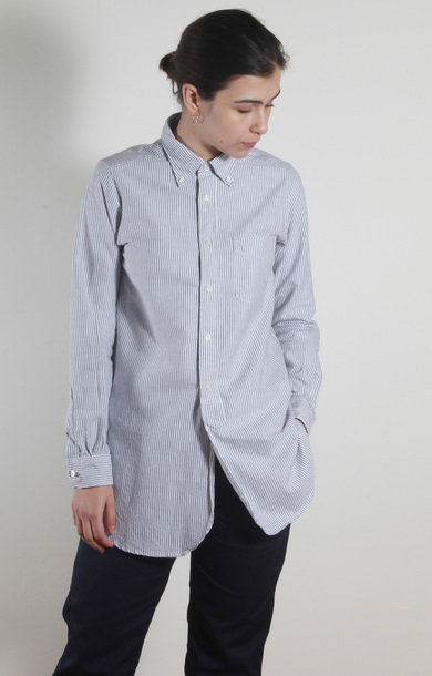 19th Century BD Shirt Grey Oxford Stripe