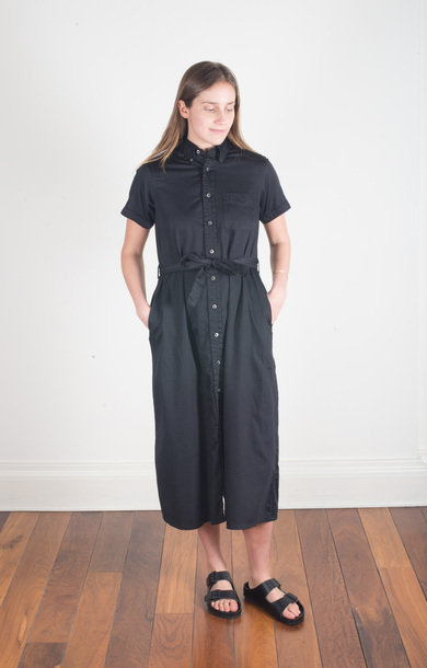 BD Shirt Dress Black Sateen