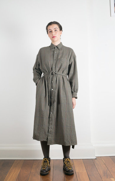 BD Shirt Dress Brown Gunclub Check Twill