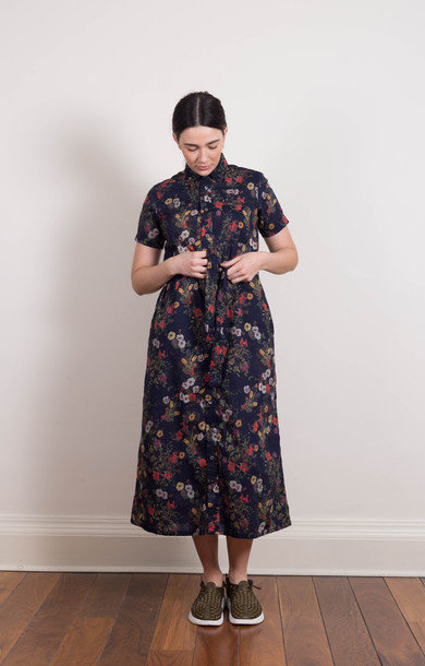 BD Shirt Dress Navy Floral