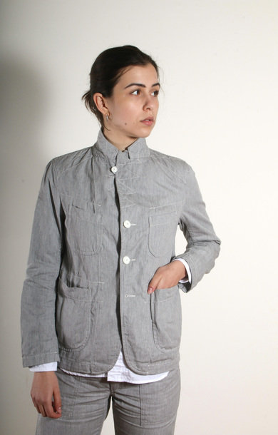 Bedford Jacket H. Grey Cotton Twill