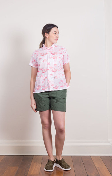 Camp Shirt Pink Flamingo