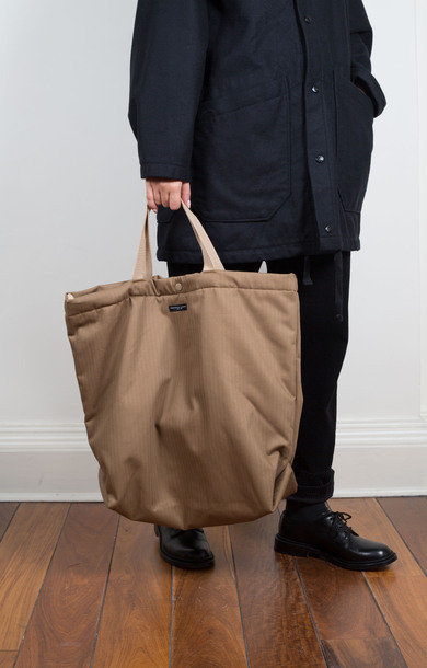 Carry All Tote Khaki Herringbone Twill