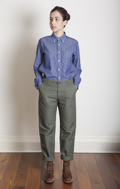 Fatigue Pant Olive Cotton Double Cloth