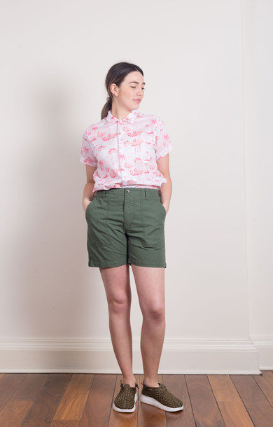 Fatigue Shorts Olive Cotton
