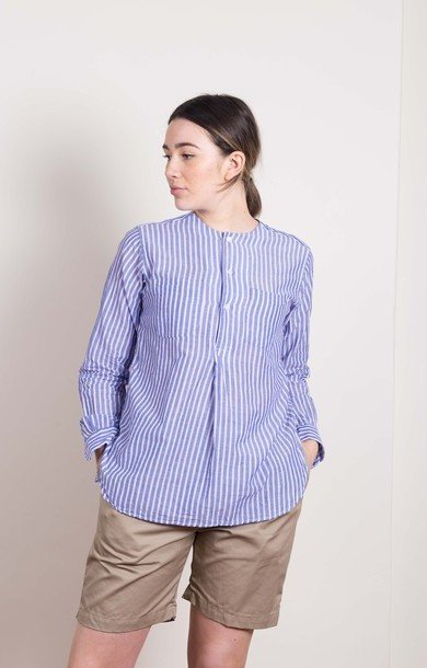 Irving Shirt Blue Wide Stripe