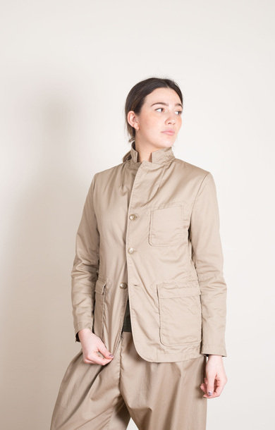 Khaki High Count Twill Baker Jacket