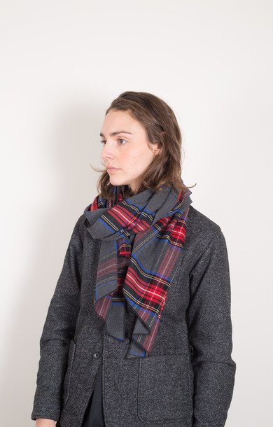Long Scarf Grey/Red