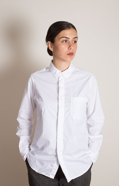 Short Collar Shirt White 100's 2Ply
