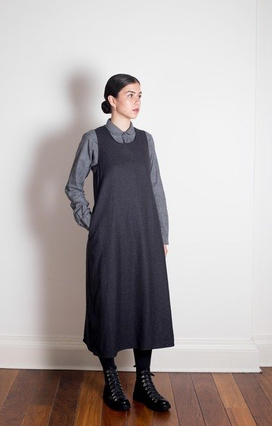 Sun Dress Dk Grey Wool
