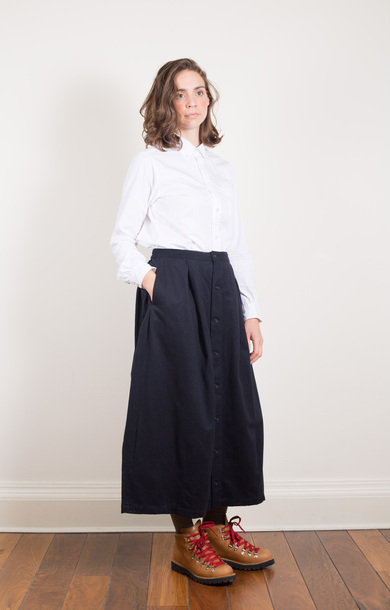 Tuck Skirt Dark Navy