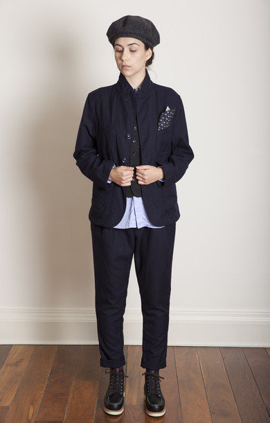 Willy Post Pant Navy Uniform Serge AW16