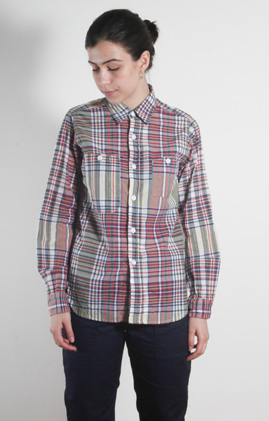 Work Shirt Olive/Navy/Red Big Plaid