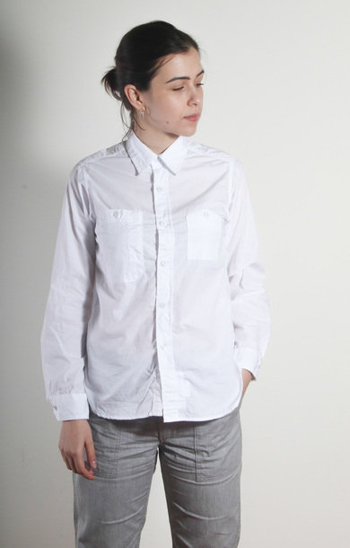 Work Shirt White Super Fine Poplin