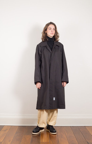 Army Trench Coat Black