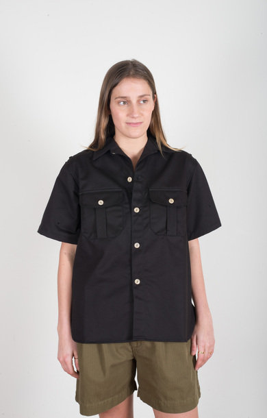 Cuban Shirt Como Sanded Black