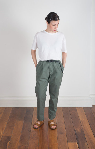 Basket Tuck Tapered Pants Army