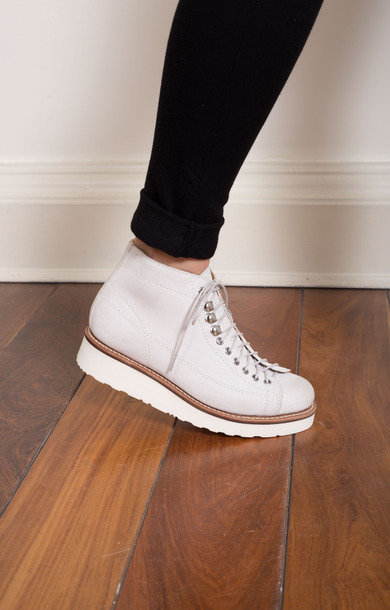 Annie White Burnished Suede Monkey Boot